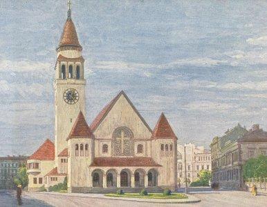 Das Bild zeigt den Originalentwurf der Architekten Theiss & Jaksch.
